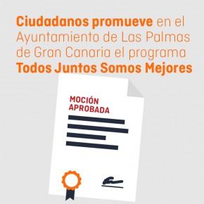 C´s pide al Ayuntamiento de Las Palmas de Gran Canaria que ponga en marcha el programa 'Todos juntos somos mejores'