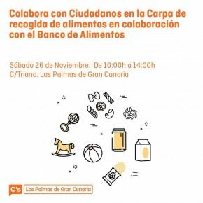 C´s organiza en Las Palmas de Gran Canaria una recogida de alimentos para la 'Operación Kilo' del Banco de Alimentos
